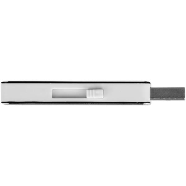 """Memoria USB de 4 GB """"Glide"""" - Negro Intenso"""