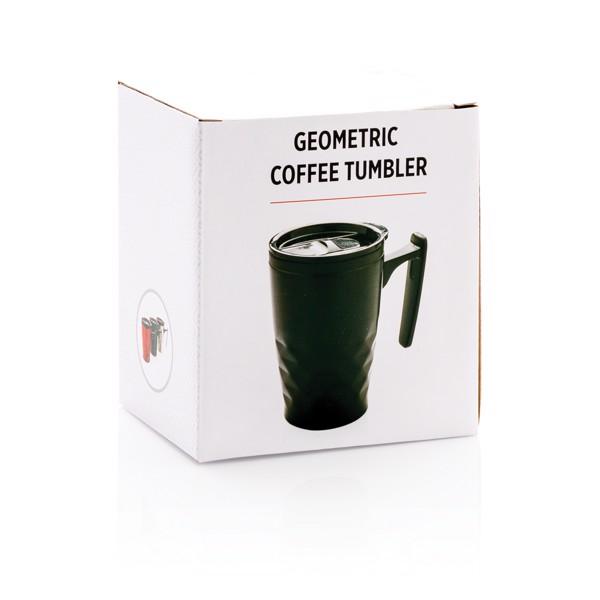 Geometrikus kávéspohár - Fekete