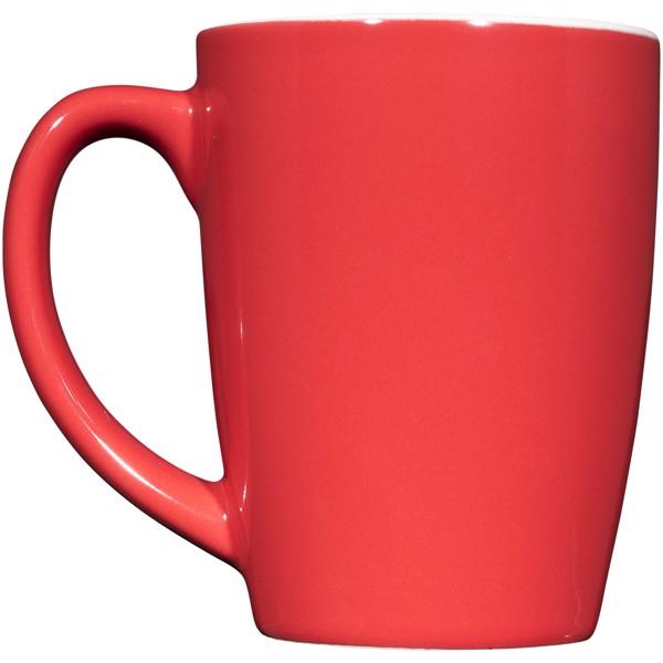 Keramický hrnek Mendi 350 ml - Červená s efektem námrazy