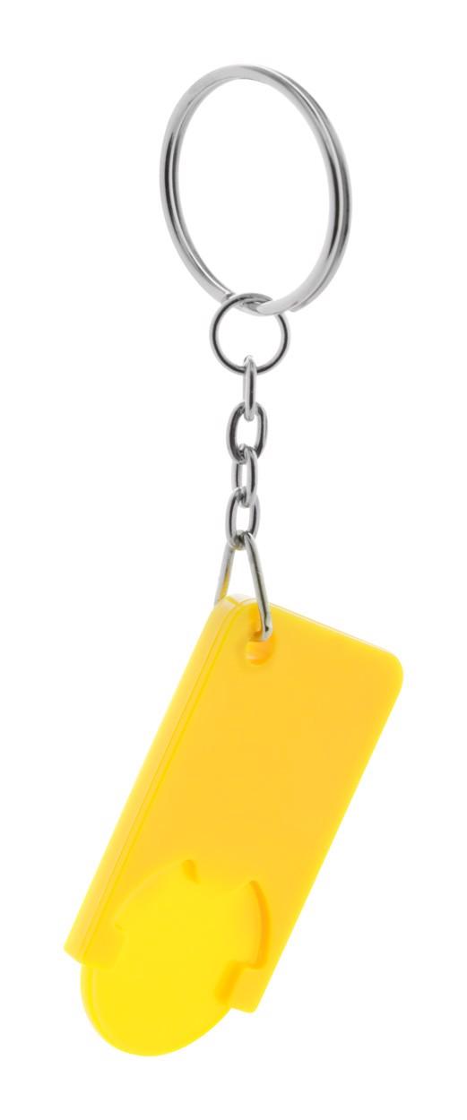 Přívěšek Na Klíče Se Žetonem Beka - Žlutá