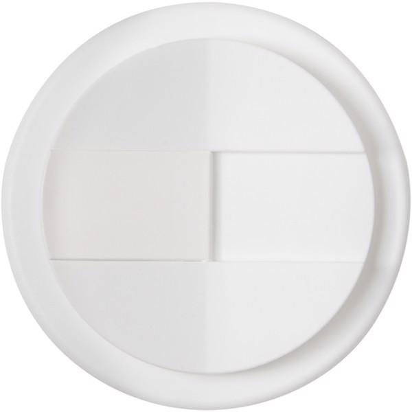 Brite-Americano Grande 350 ml mug with spill-proof lid - White