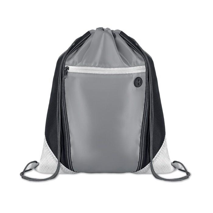Worek plecak Shoop Grey - biały
