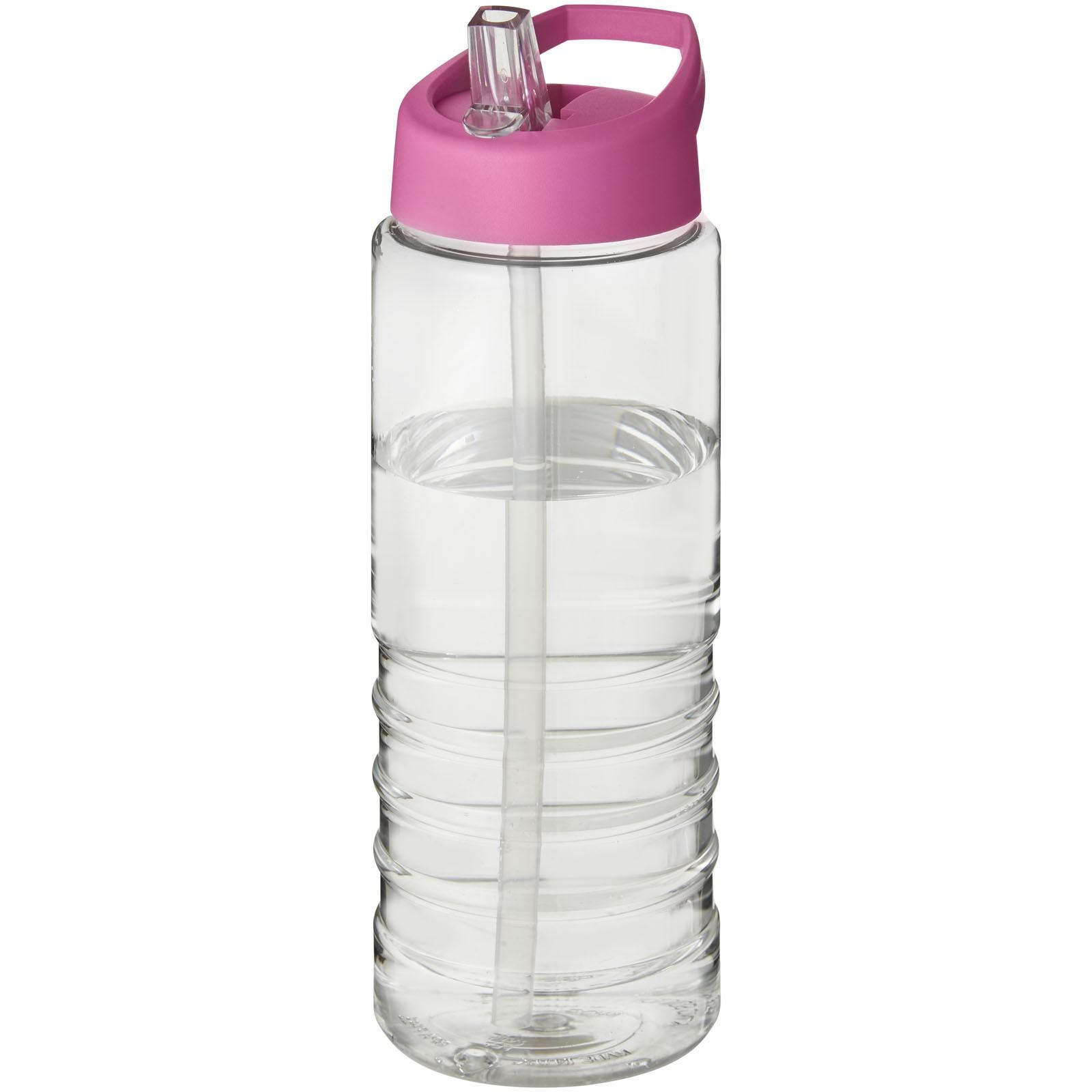H2O Treble 750 ml sportovní lahev s víčkem s hubičkou - Průhledná / Růžová