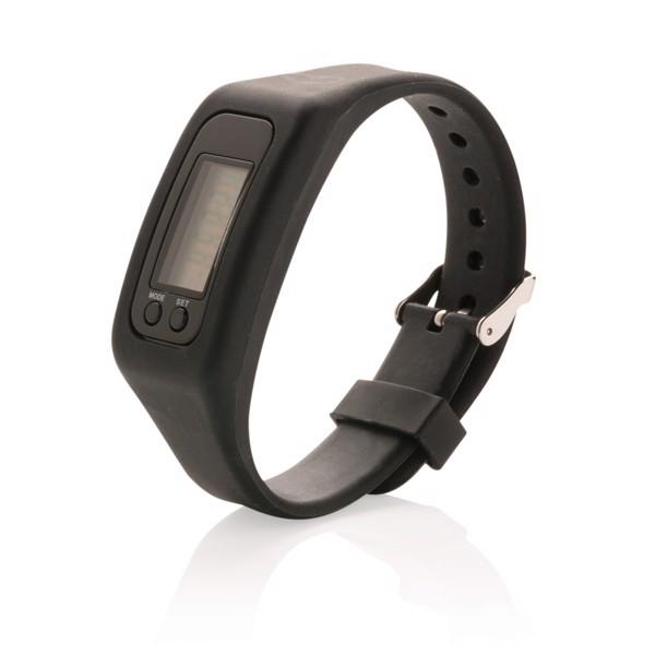 Sportovní hodinky s krokoměrem - Černá