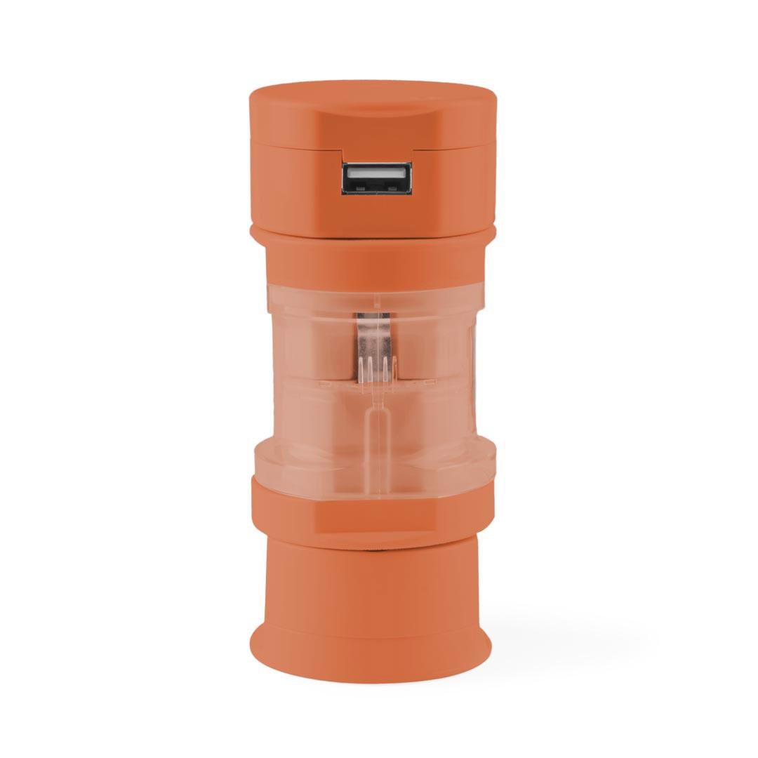 Adaptador Enchufes Tribox - Naranja