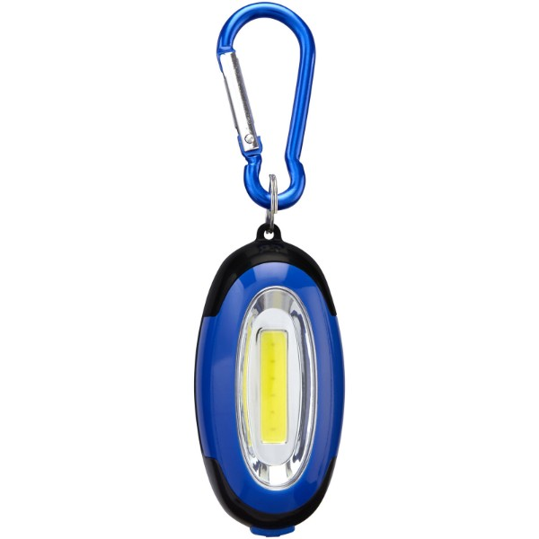 COB svítilna Atria s karabinou - Světle modrá / Černá