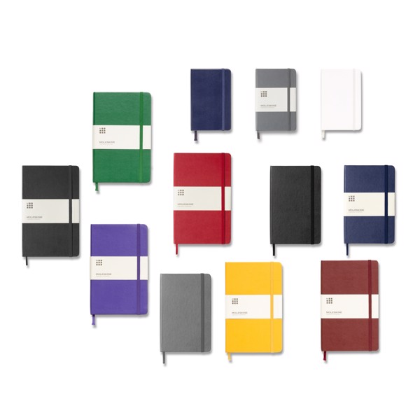 Classic L hard cover notebook - ruled - White