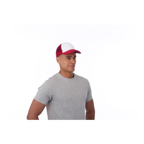 Trucker 5 panel cap - Pink / White