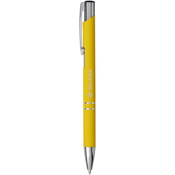 Moneta soft touch click ballpoint pen - Yellow