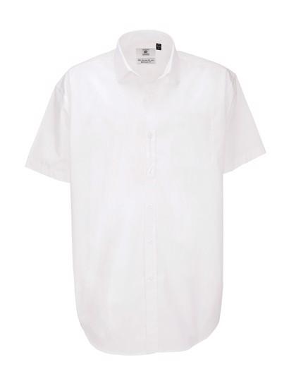 Poplin Shirt Heritage Short Sleeve / Men - White / 4XL