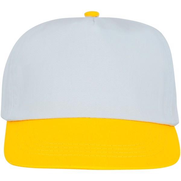 Icarus 5panelová dvoutónová čepice - Žlutá / Bílá