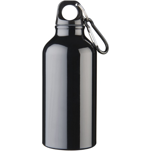 Oregon 400 ml sport bottle with carabiner - Solid black