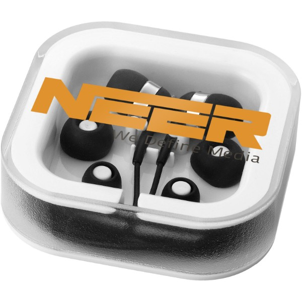 Sargas earbuds with microphone - Solid black