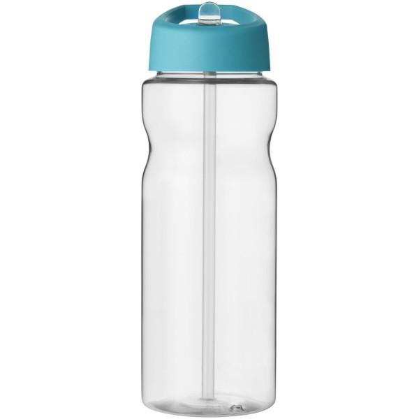 Sportovní láhev s víčkem s hubičkou H2O Base® 650 ml - Průhledná / Aqua blue
