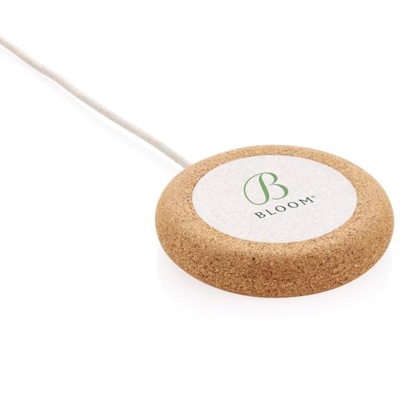 Bezdrátová nabíječka z korku a pšenice 5W