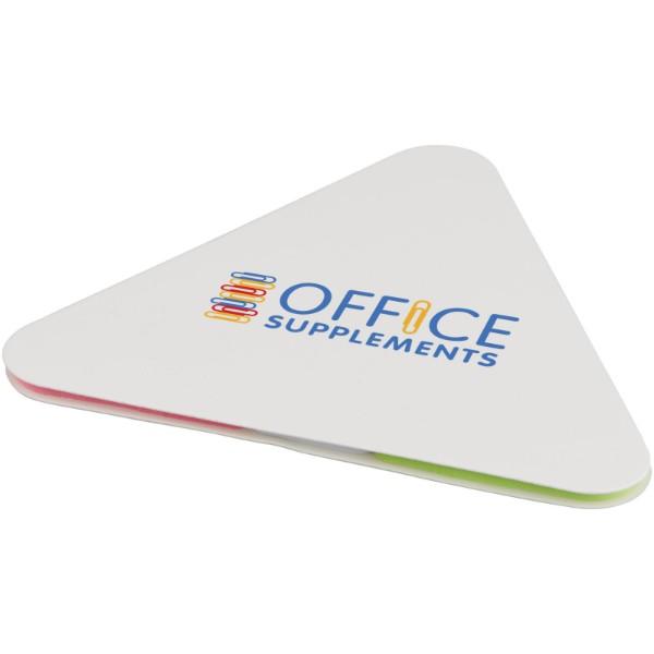 Samolepící štítky ve tvaru trojúhelníku - Bílá