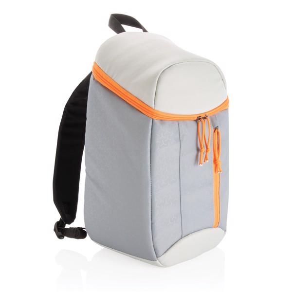Hiking cooler backpack 10L - Grey / Orange
