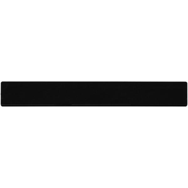Renzo 30 cm plastic ruler - Solid black