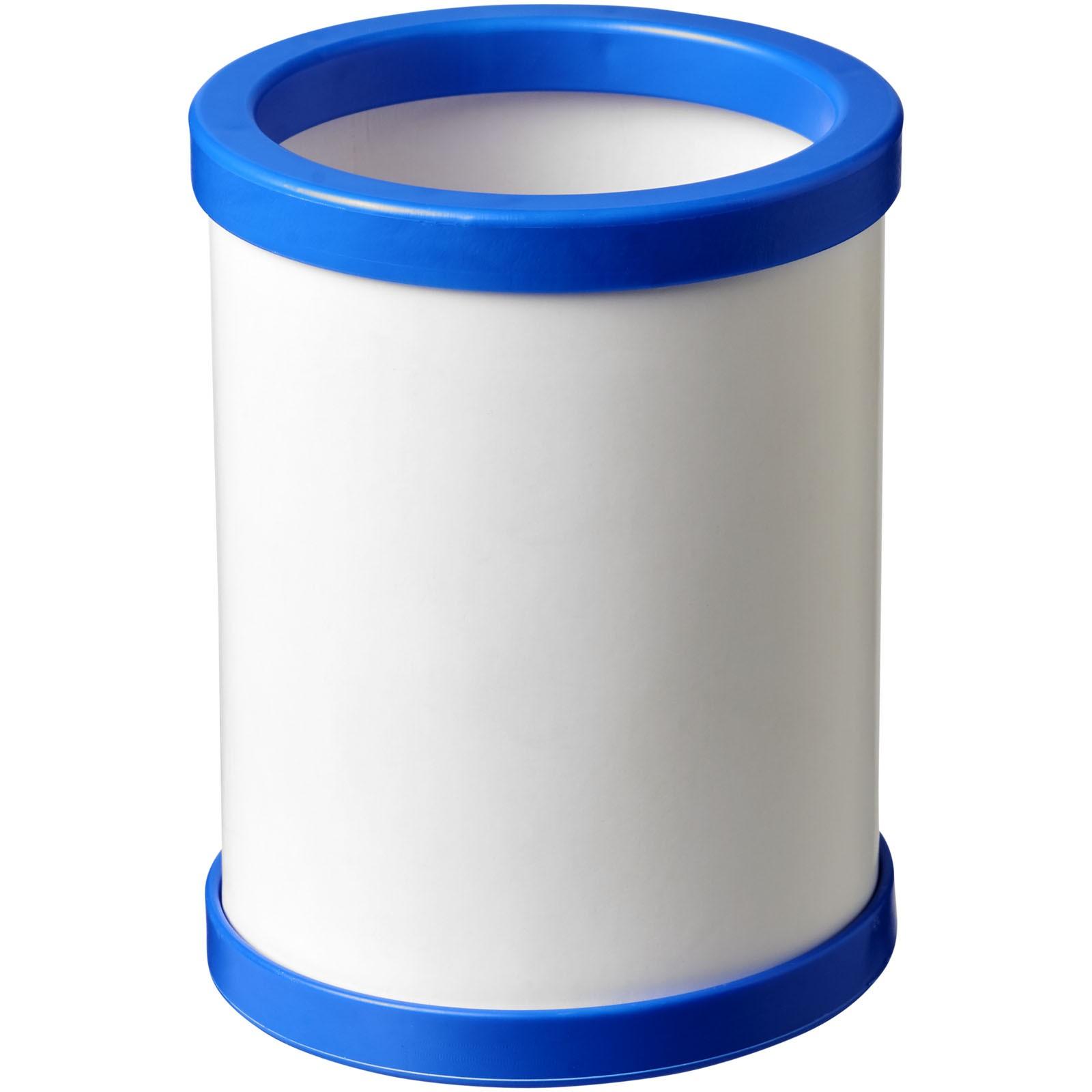 Deva round card pen holder with plastic trim - Blue