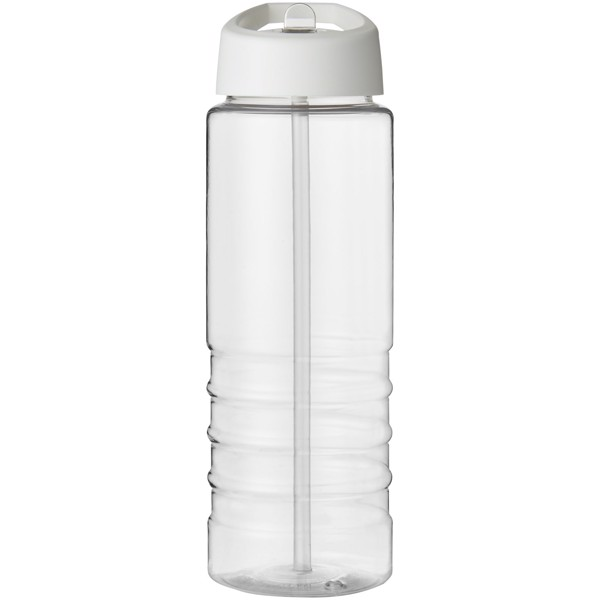 H2O Treble 750 ml spout lid sport bottle - Transparent / White