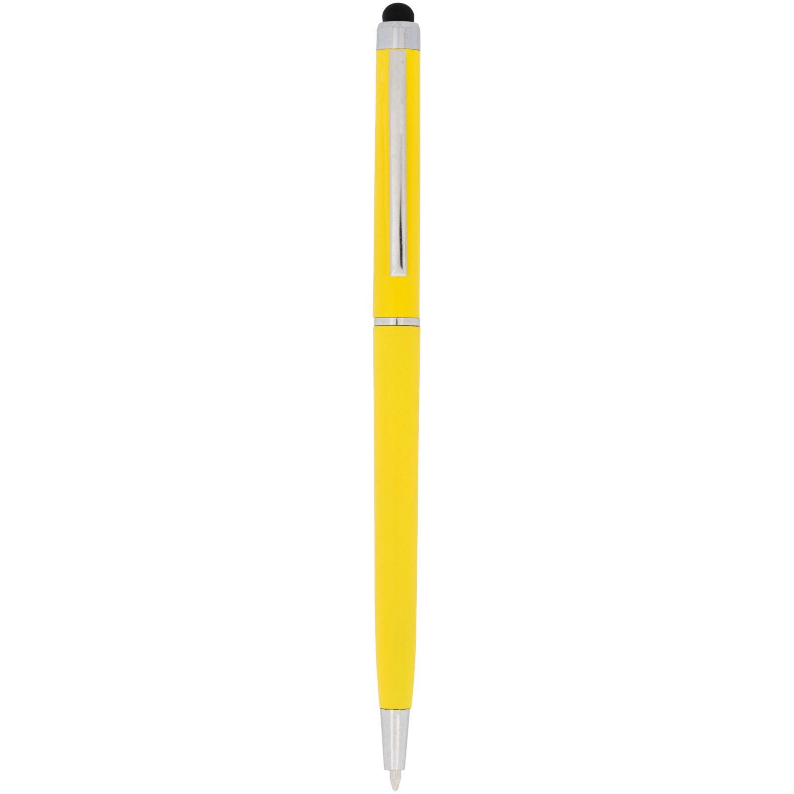 Kuličkové pero a stylus Valeria z ABS plastu - Žlutá