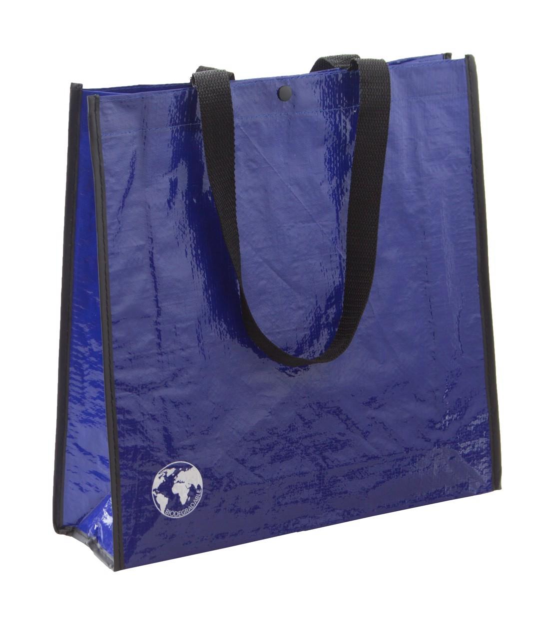 Nákupní Taška Z Recyklovaného Materiálu Recycle - Modrá / Černá