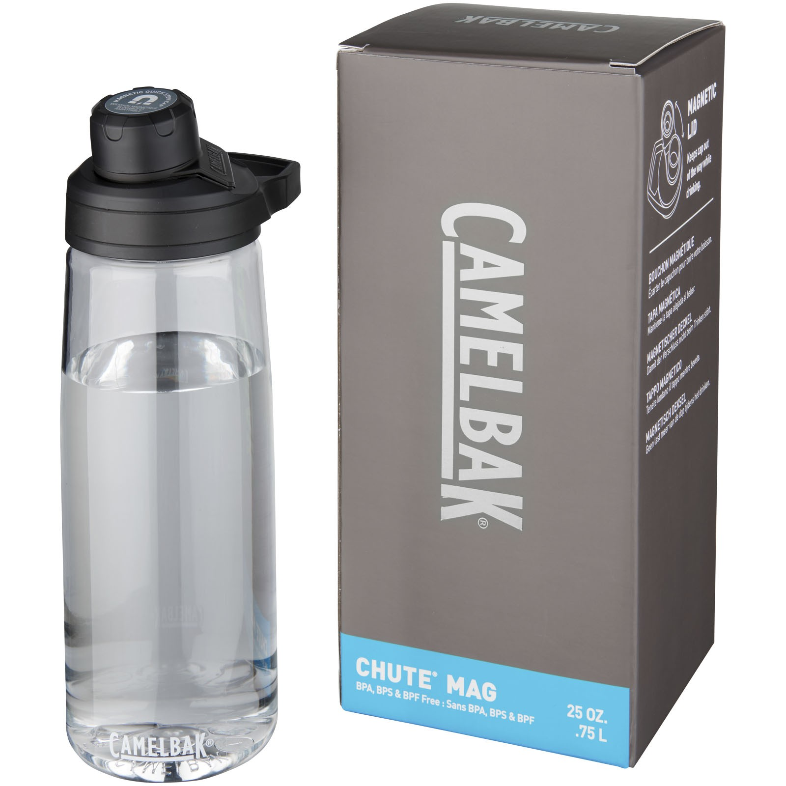 Chute Mag 750 ml Tritan™ sport bottle - Transparent clear