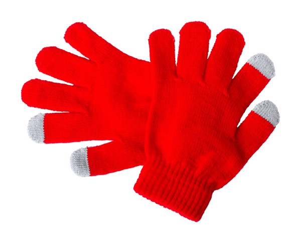 Touch Screen Gloves For Kids Pigun - Red / Grey