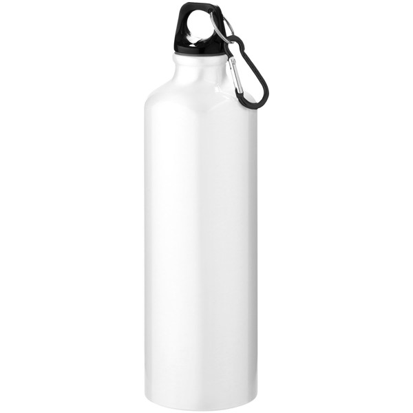 Pacific 770 ml sport bottle with carabiner - White