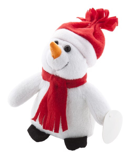 Plush Snowman Lumiukko - White / Red
