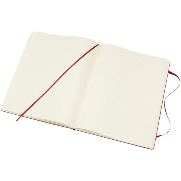 Classic XL hard cover notebook - dotted - Scarlet red