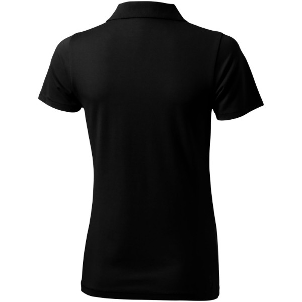 Seller short sleeve women's polo - Solid black / S