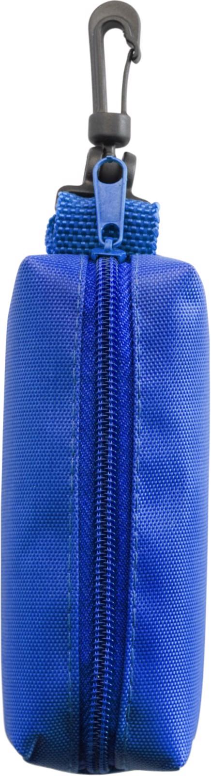 Nylon (420D) pouch with felt tip pens - Blue
