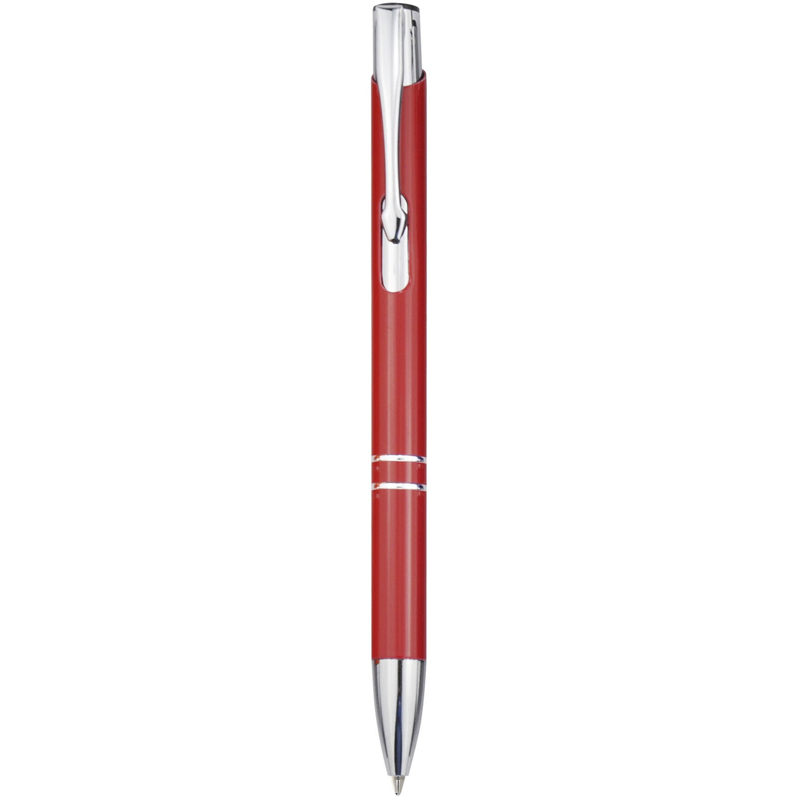 Moneta Druckkugelschreiber aus Aluminium - Rot