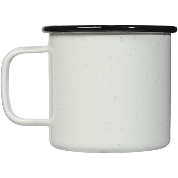 Campfire 475 ml mug - White / Solid black