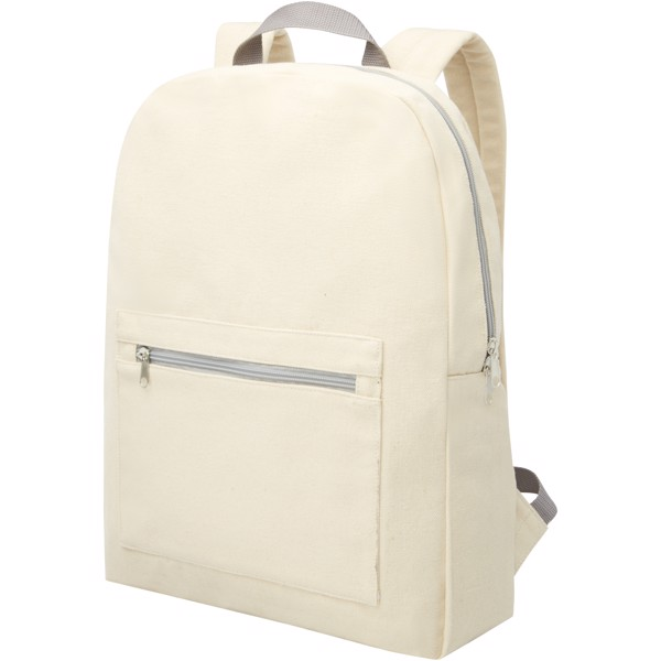 Pheebs 210 g/m² recycled cotton and polyester backpack - Natural