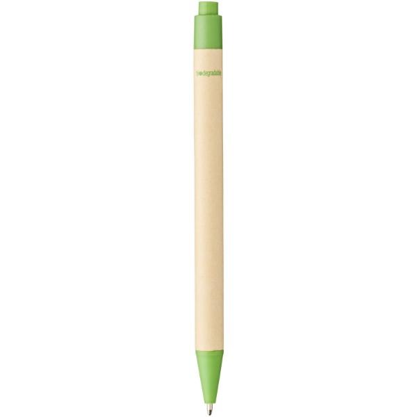 Długopis Berk z kartonu z recyklingu i plastiku kukurydzianego - Zielony