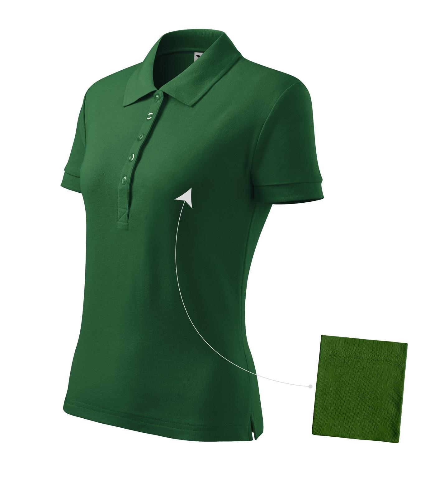 Polokošile dámská Malfini Cotton - Lahvově Zelená / S