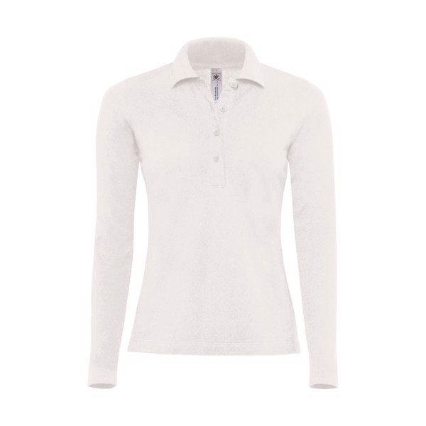 Ladies Polo Shirt 180 g/m2 Ladies' Polo Ls - White / L