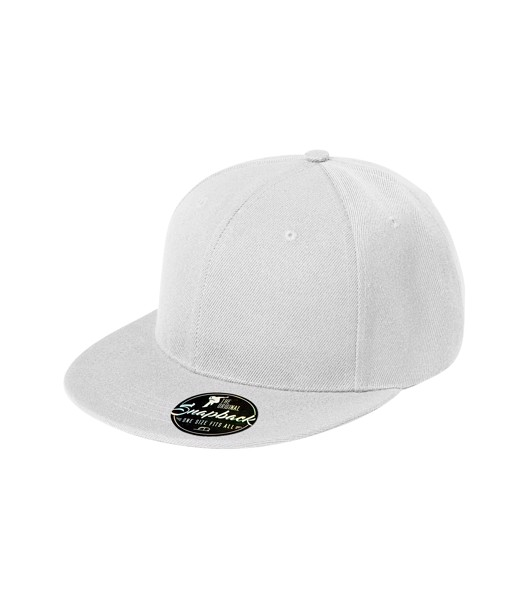 Cap unisex Malfini Rap 6P - White / adjustable