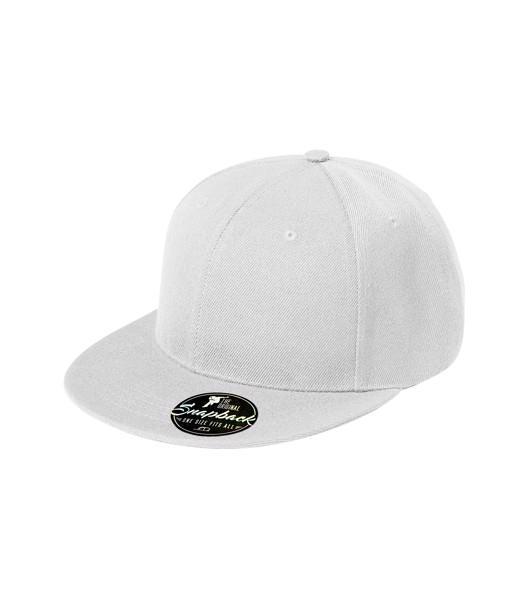 Čepice unisex Malfini Rap 6P - Bílá / nastavitelná