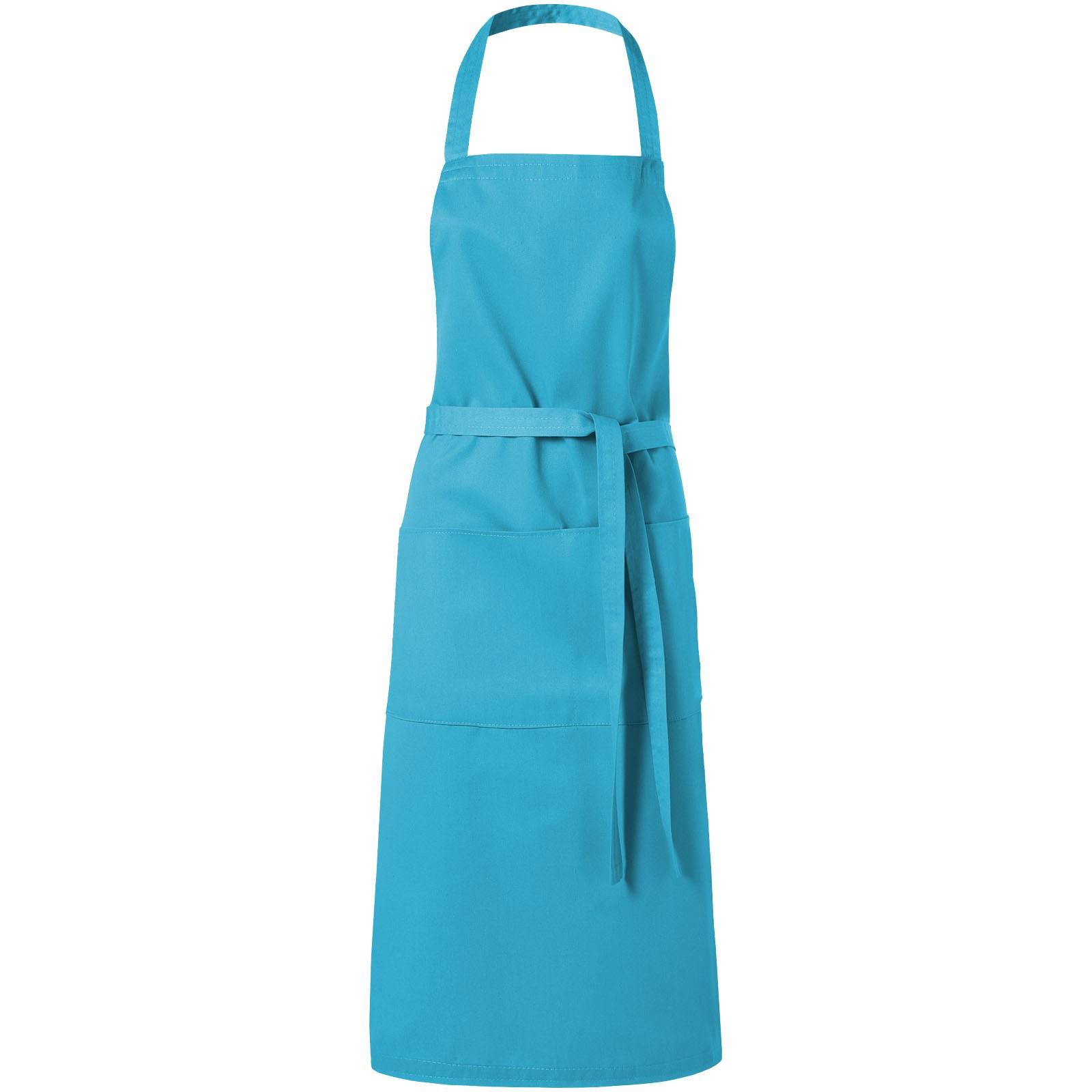 Zástěra Viera se dvěma kapsami - Aqua blue