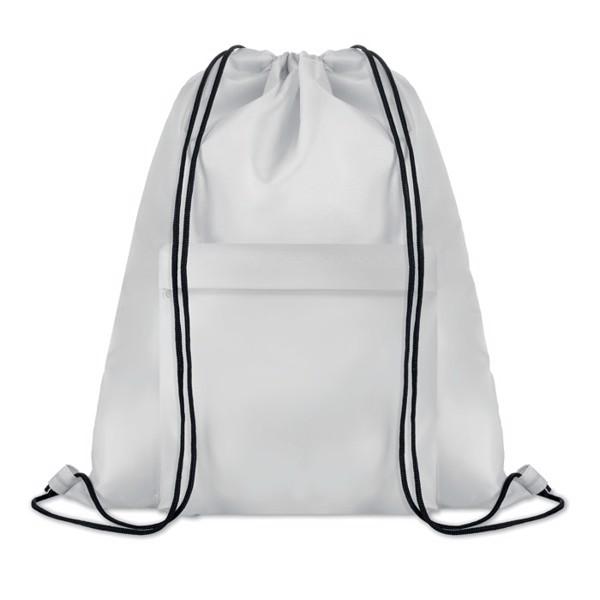 Large drawstring bag Pocket Shoop - White