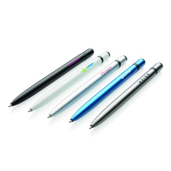 Tenké hliníkové stylusové pero - Bílá