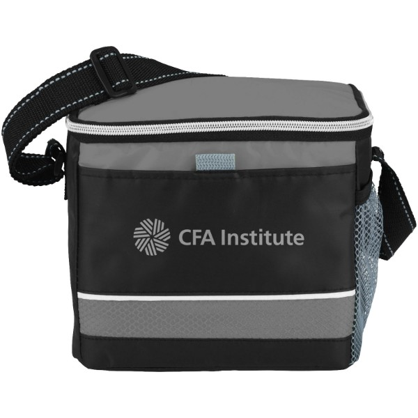Levy sports cooler bag - Grey / Solid black