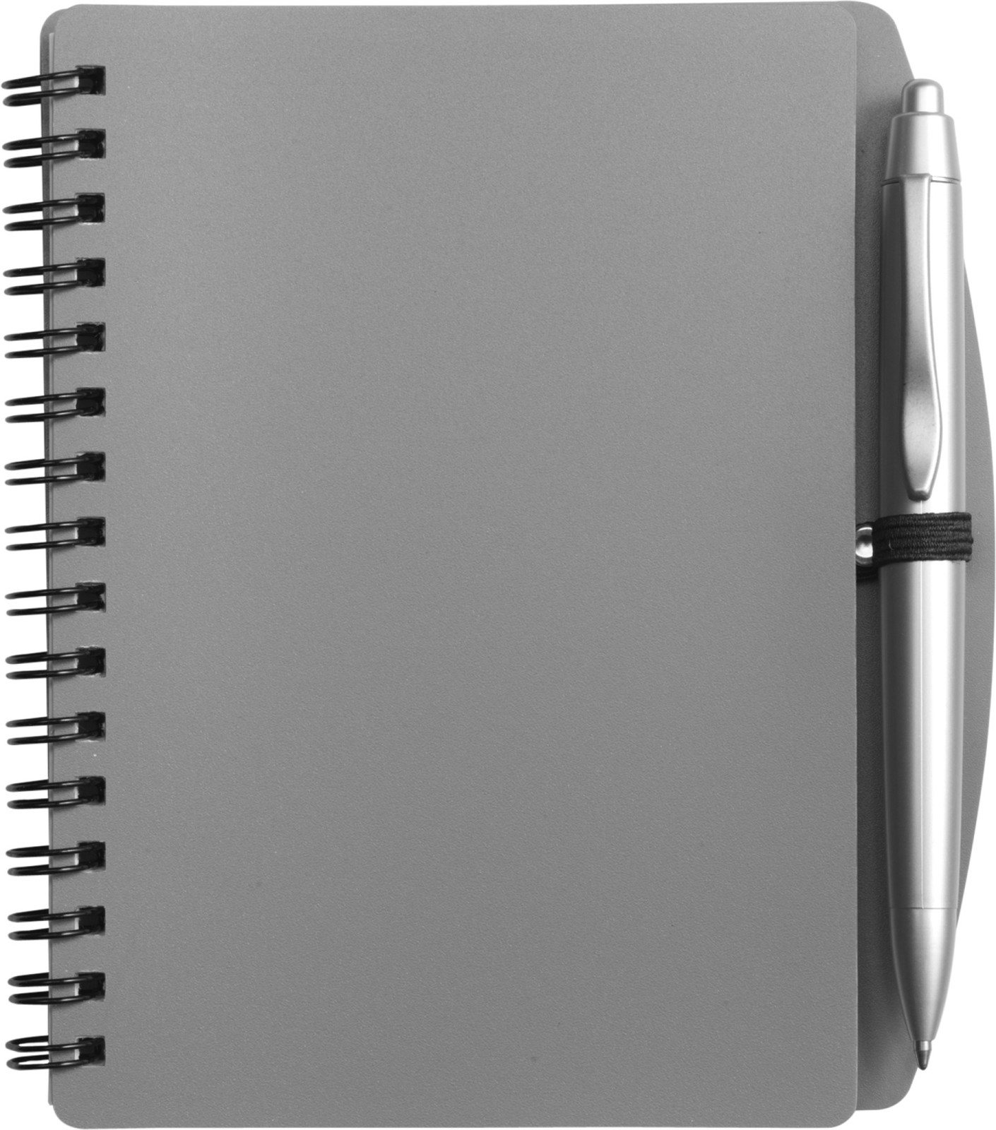 PP notebook with ballpen - Grey
