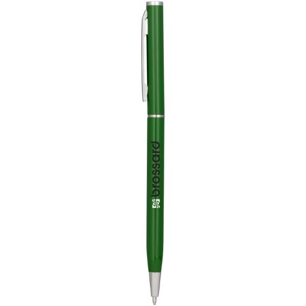 Hhliníkové kuličkové pero Slim - Zelená