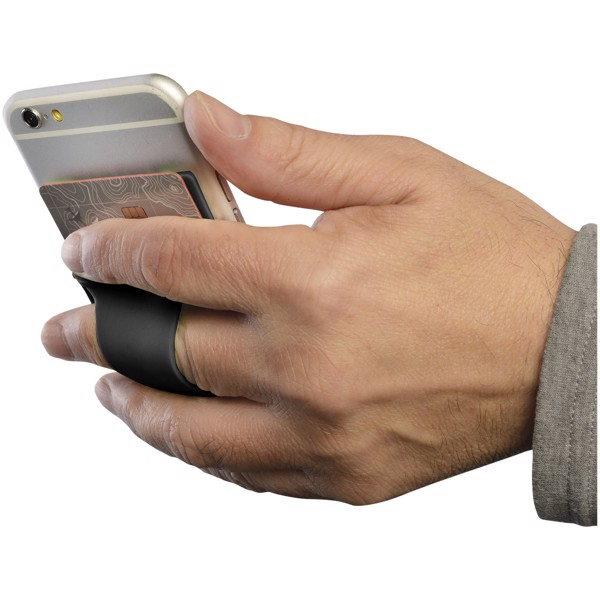 Silikonové pouzdro na kartu k telefonu - Černá