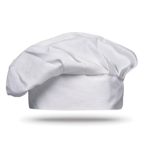 Cotton chef hat 130 gsm - White