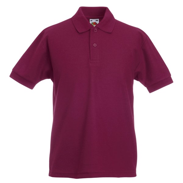 Dziecięca Koszulka polo 170 65/35 Kids Polo 63-417-0 - Burgundy / XL
